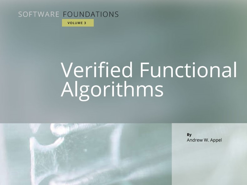 Verified Functional Algorithms